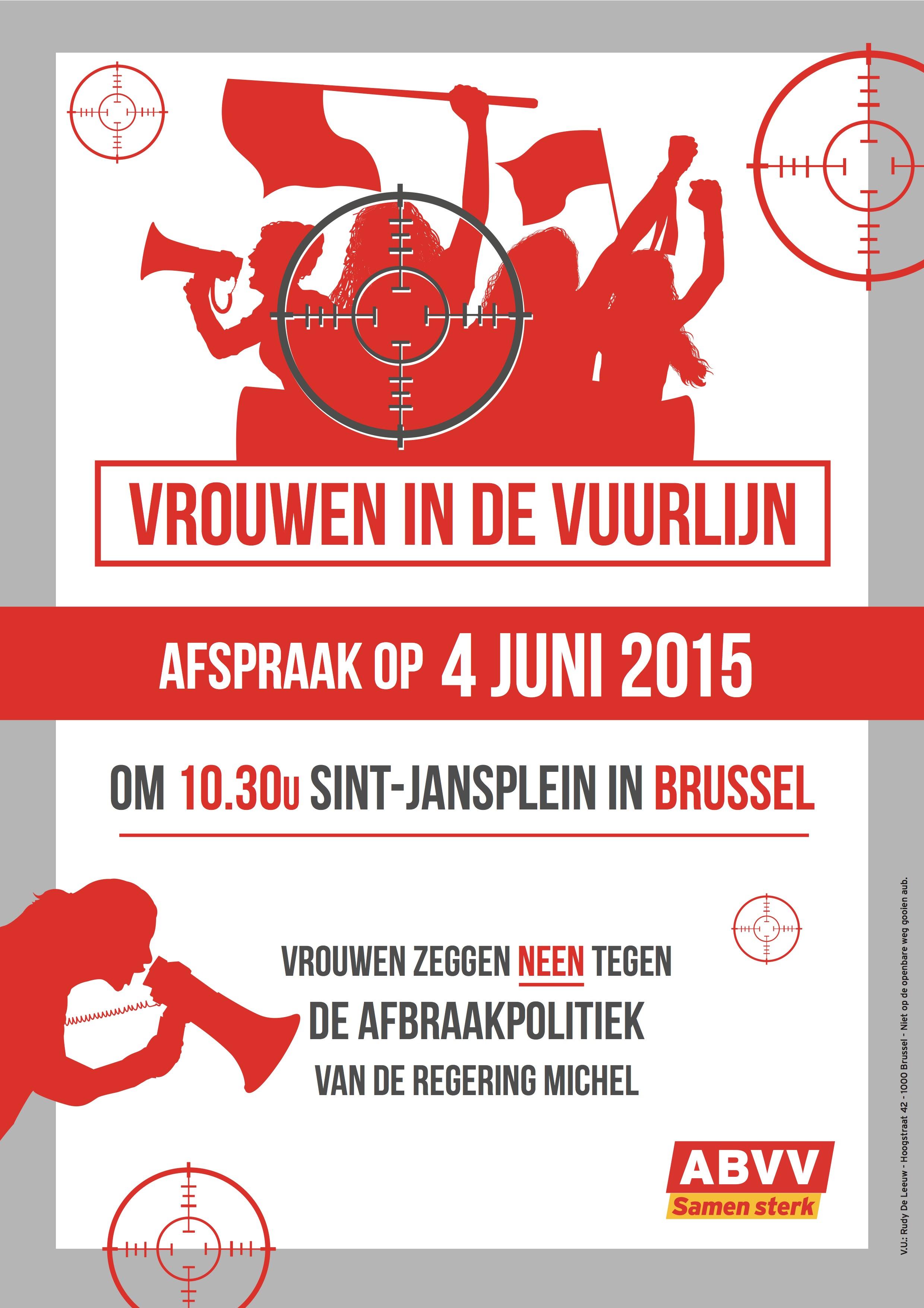 Affiche Vrouwenactie 04 06 15 NL