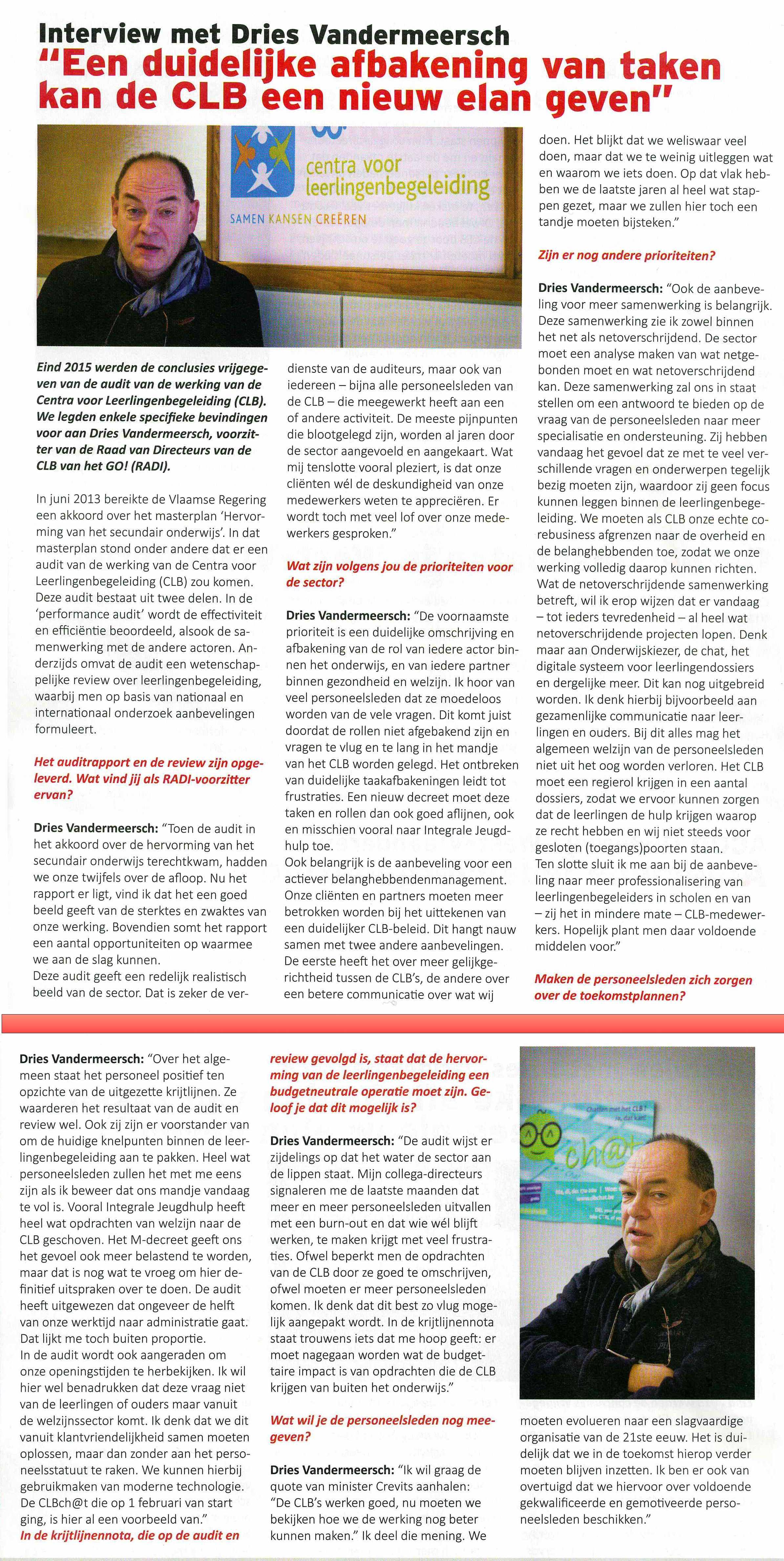 Interview Dries Vandermeersch